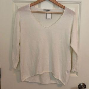 Madewell Basic V Neck Sweater, Size M, 100% cotton